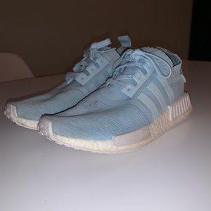 Light blue adidas NMD's